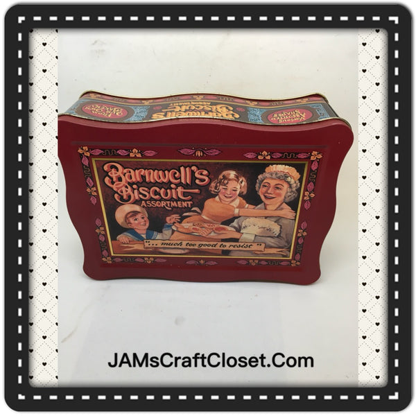 Tin Vintage Barnwell Biscuit Advertising Tin Collector JAMsCraftCloset