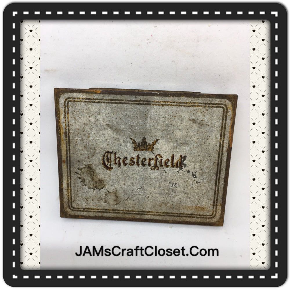 Tin Vintage Chesterfield Advertising Tin Collector