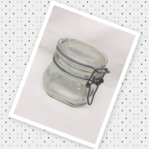 Canister Fido Bormioli Rocco Flip Top Clear Glass Jar Vintage Made in Italy Gift Idea Storage