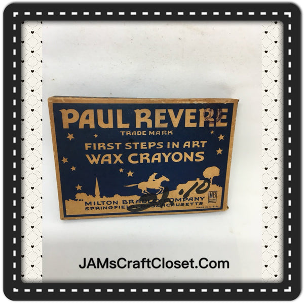 Crayons Vintage Paul Revere First Steps in ART Crayons Collectible - JAMsCraftCloset
