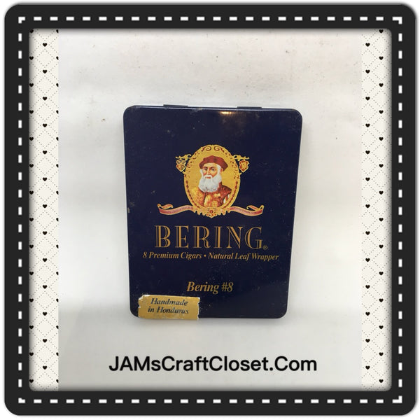 Tin Vintage Bering Number 8 Premium Advertising Tin Collector Handmade In Honduras Rare JAMsCraftCloset