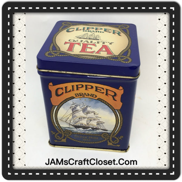 Tin Vintage English Clipper Brand Quality Tea Advertising Tin Collector Tin JAMsCraftCloset