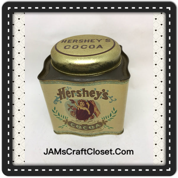 Tin Vintage Hersheys Cocoa Advertising Tin Collector Fancy Square Tin JAMsCraftCloset