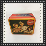 Tin Vintage Coca Cola Red Baseball Advertising Tin