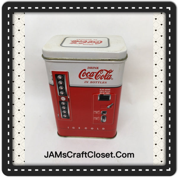 Tin Vintage Coca Cola Vending Machine Advertising Tin c. 1997 JAMsCraftCloset