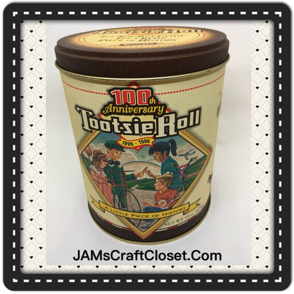 Tin Vintage Tootsie Roll Advertising Tin Collector 100th Anniversary Tin c. 1996 JAMsCraftCloset