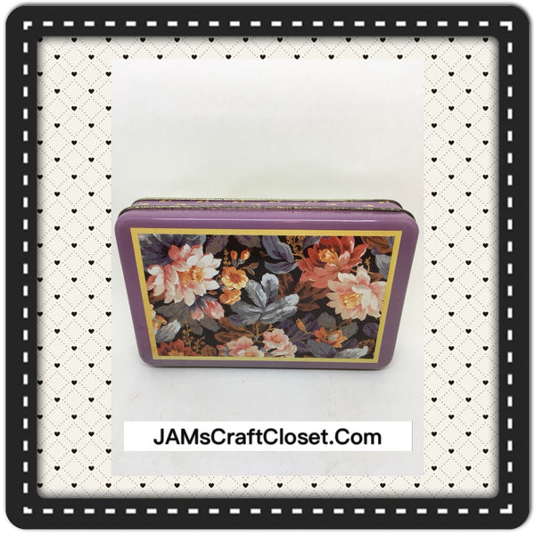 Tin Vintage Decorative Floral Tin Collector Tin Storage JAMsCraftCloset