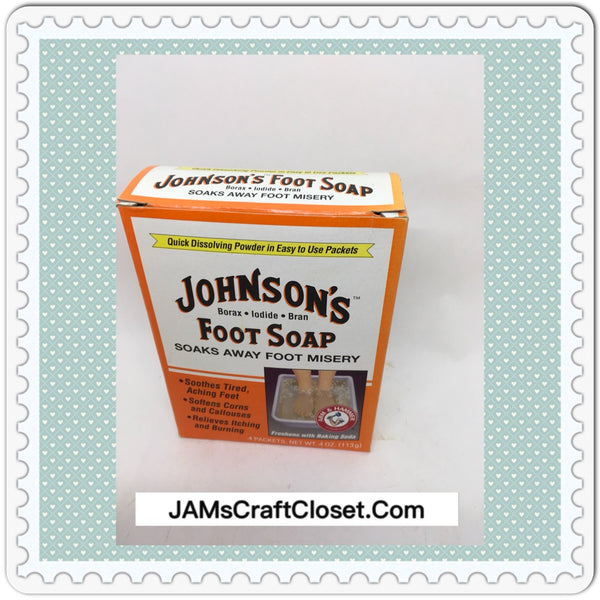 Vintage Johnson Foot Soap 4 ounce Box Collectible Advertising Box JAMsCraftCloset