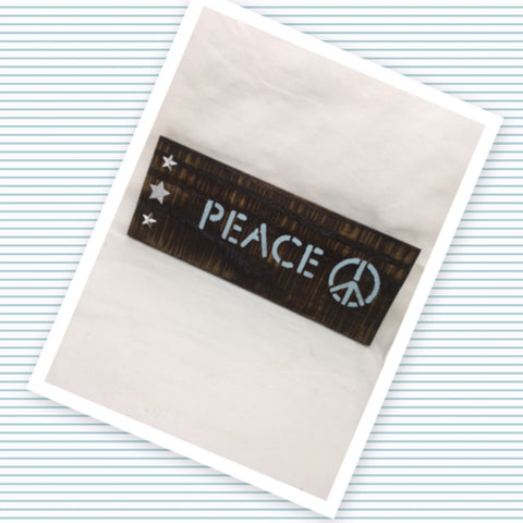 PEACE Wooden Sign Positive Saying Handmade Hand Painted Gift Idea Home Decor