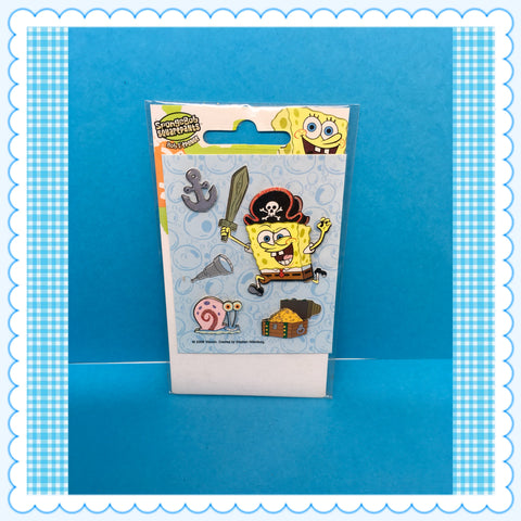 SpongeBob SquarePants 3 D Stickers Scrapbooking c. 2006