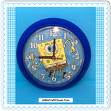 "SpongeBob SquarePants Clocks TY White and Blue Rare First Edition c. 2002 Clocks 9"" Diameter"