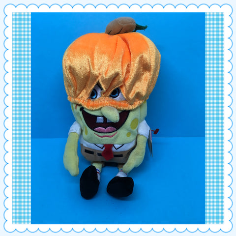 SpongeBob SquarePants TY Beanie Baby Collection Pumpkin Mask  Nickelodeon c. 2004