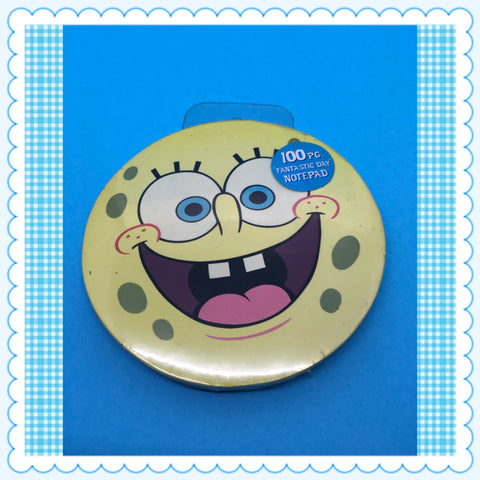 SpongeBob SquarePants Round Unopened Note Pad  Nickelodeon c. 2002