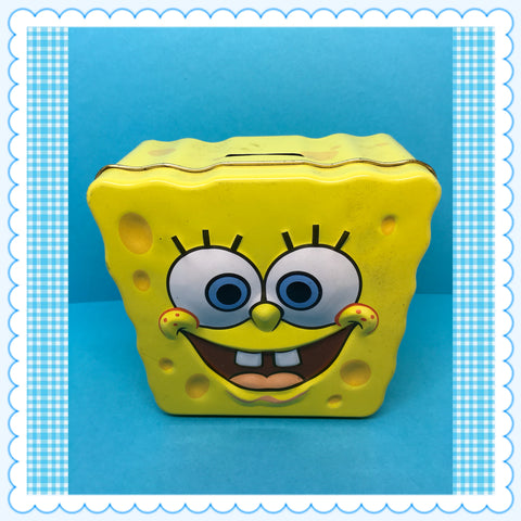 SpongeBob SquarePants Metal Bank Tin Nickelodeon c. 2004