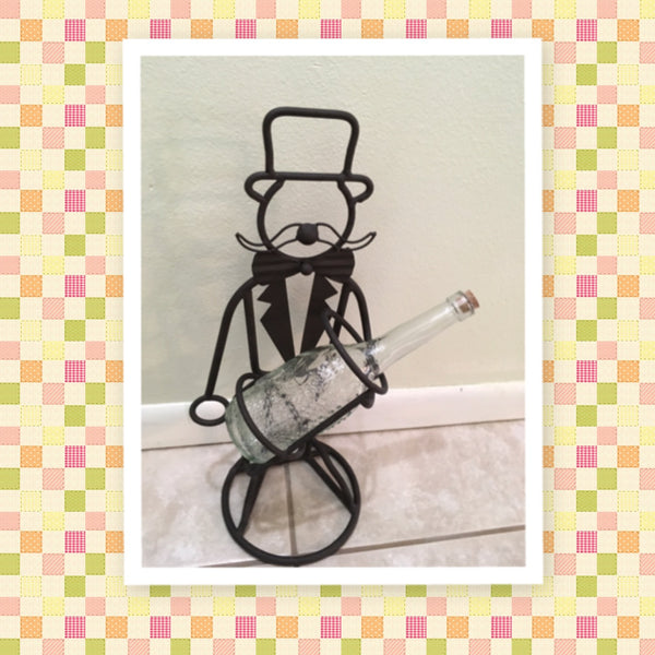 Bottle Holder Butler Vintage Wrought Iron Bar Decor Kitchen Decor Party Decor - JAMsCraftCloset