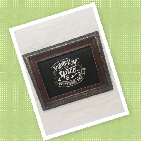 PUMPKIN SPICE AND EVERYTHING NICE Vintage Wood Frame Positive Saying Wall Art Home Decor Gift Idea