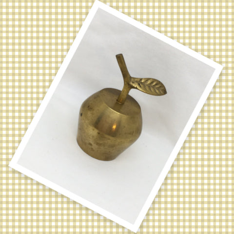 Bell Solid Brass APPLE Teacher Classroom Bell Gift Idea