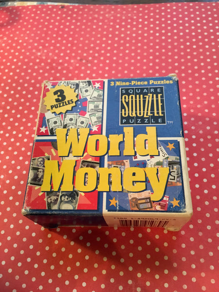 Puzzles MindWare Vintage Discontinued World Money Set of 3 Nine Piece Critical Thinking Puzzles Teacher Resource JAMsCraftCloset