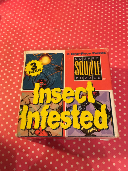 Puzzles MindWare Vintage Discontinued Insect Infested Set of 3 Nine Piece Critical Thinking Puzzles Teacher Resource JAMsCraftCloset