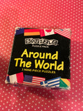 Puzzles MindWare Vintage Discontinued Around the World 9 Piece Critical Thinking Teacher Gift