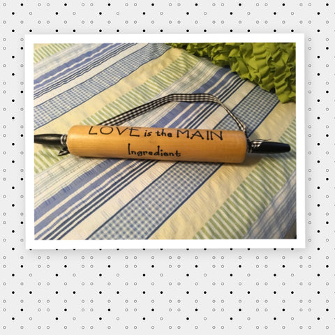 Rolling Pins Vintage Hand Painted Positive Sayings Wooden 3 Choices Wood  Country Kitchen Decor Collectible Gift Idea JAMsCraftCloset