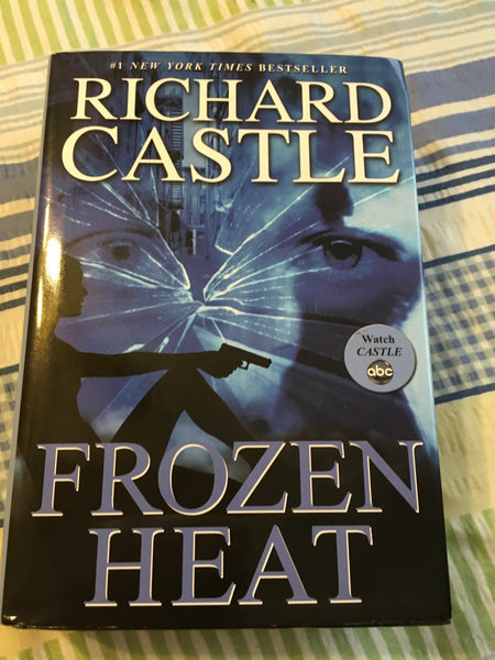 Book Hardback By Author Richard Castle FROZEN HEAT Castle Was An ABC TV Series With Dust Cover - JAMsCraftCloset