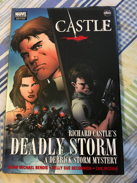 Book Hardback Richard Castle DEADLY STORM ABC TV Series Dust Cover Crime Mystery Drama - JAMsCraftCloset