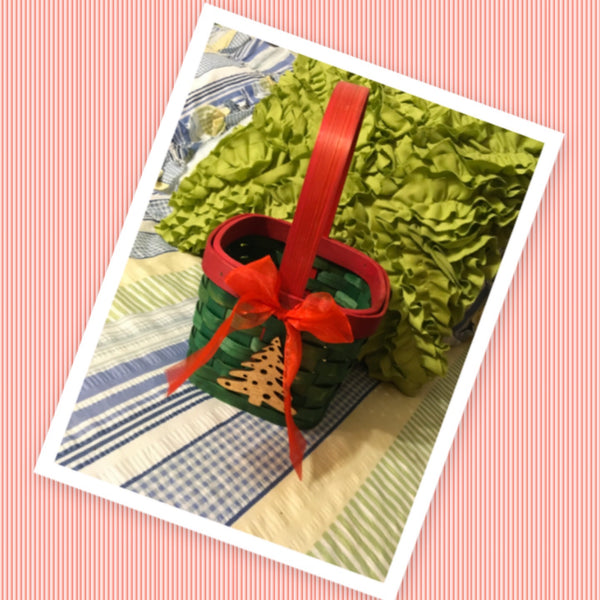 Basket Flower Girl Square Woven Wedding Accessory Table Decor Red Green Gold Tree Holiday Decor