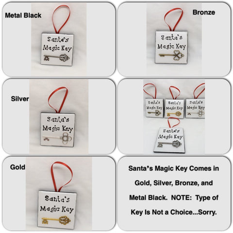 Ornaments Santas Magic Key Square 2 by 2 Inch Ceramic Tile With Poem Christmas Decor - JAMsCraftCloset
