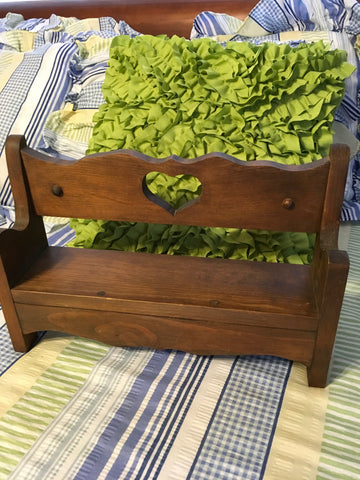 Shelf Bench Vintage Handmade Ready As Is or DIY Creativity