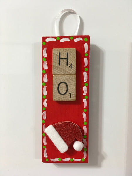 Ornament Magnet Wall Art Handmade Wooden Scrabble Pieces NOEL and HO Christmas Tree Holiday Decor Tree Decor JAMsCraftCloset