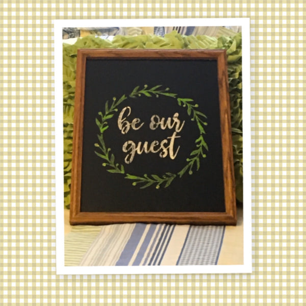 BE OUR GUEST Framed Wall Art Affirmation Positive Saying Home Decor Gift Wedding - JAMsCraftCloset