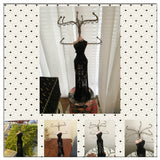 Jewelry Stand Display Holder Mannequin Embellished Tassel Beaded Black Evening Gown 15""