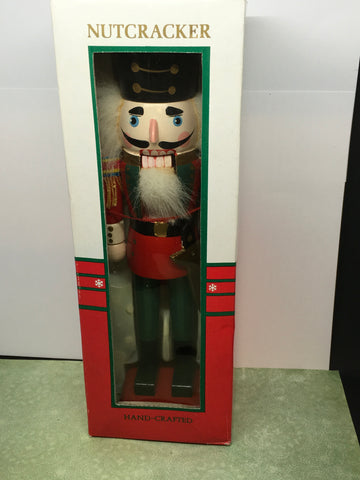 Nutcracker Old World Hand Crafted Wooden Kurt and Adler NEW in Box 11 Inches Tall Holiday Decor