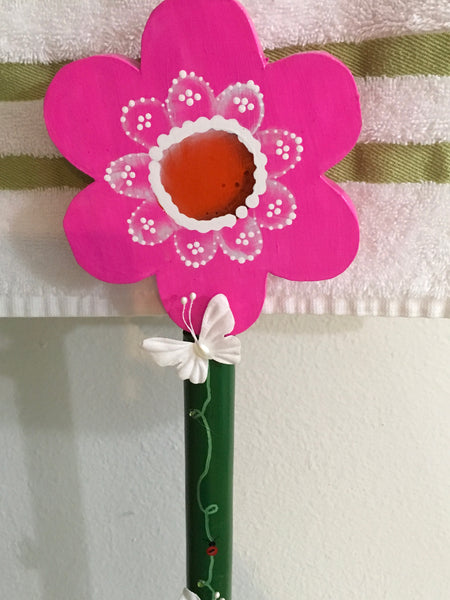Plunger Upcycled Floral Bathroom Decor Handmade Hand Painted Gift Idea JAMsCraftCloset