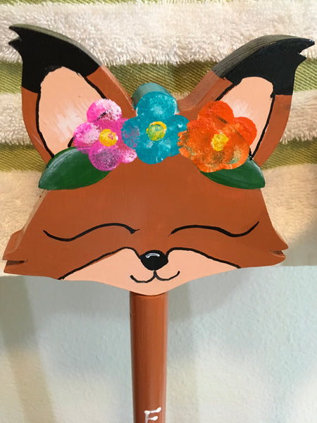 Plunger Upcycled Foxy Dude and Foxy Lady Bathroom Decor Handmade Hand Painted Gift Idea JAMsCraftCloset