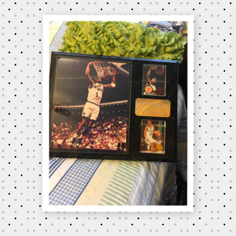 Anfernee PENNY Hardaway Orlando Magic Number 1 Hardwood Collage Plaque Brass Engraved Name Plate Collectible  Includes 3 Photos and Engraved Brass Plate - JAMsCraftCloset