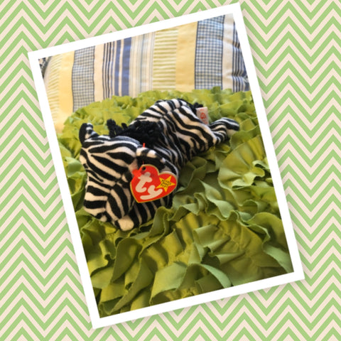 TY BEANIE BABY Ziggy the Zebra Birthdate December 24, 1995 Collectible Gift Idea  Ty Original Beanie Baby Collection Ziggy Zebra Condition is new clean and great   RARE with tag ERROR typo an added space between the punctuation at the end of the poem - JAMsCraftCloset