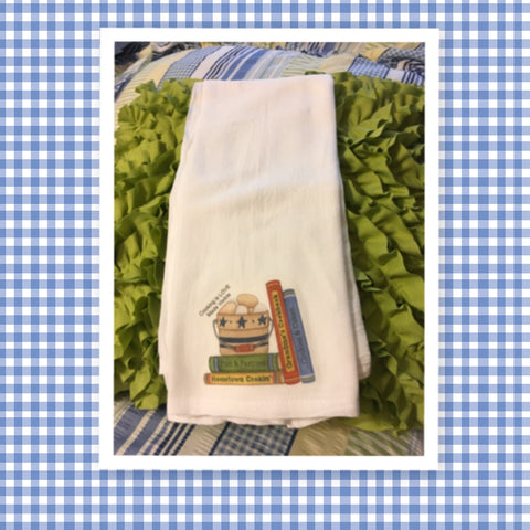 COOKING IS LOVE MADE VISIBLE Flour Sack Tea Towels Kitchen Decor Gift Idea Handmade Chef Gift Housewarming Gift Wedding Gift - JAMsCraftCloset
