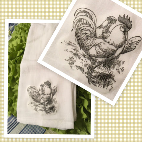 6 CHICKENS HENS Flour Sack Tea Towels Kitchen Decor Gift Idea Handmade Chef Gift Housewarming Gift Wedding Gift - JAMsCraftCloset
