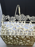 Basket Vintage TULIP Beaded Wire Easter Storage Centerpiece Gift - JAMsCraftCloset
