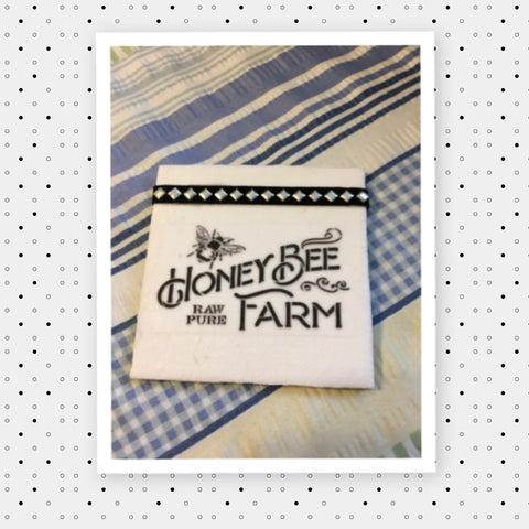 HONEY BEE FARM Wall Art Ceramic Tile Decoupaged Sign Kitchen Country Farmhouse Decor HOME Decor Gift Idea Handmade Sign Country Farmhouse Campers RV Home and Living Wall Hanging - JAMsCraftCloset