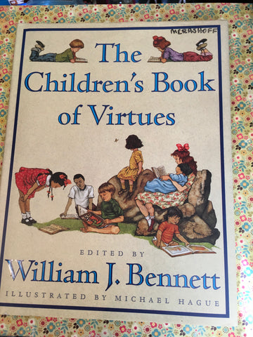 Book The Childrens Book of Virtues Vintage By William J Bennett Table Coffee Table Kids Gift - JAMsCraftCloset
