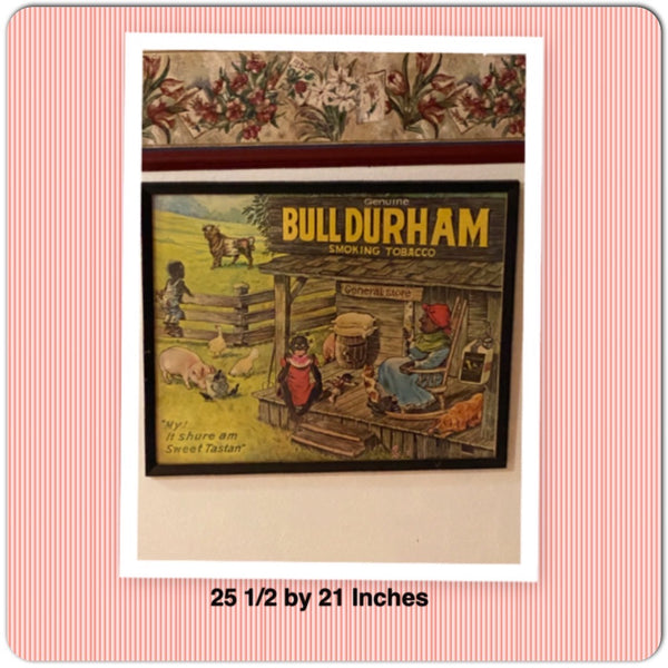 Bull Durham Framed Authentic Lithograph Advertising Poster My! It Shure Am Sweet Tastin Collectible Black Americana Memorabilia Home Decor Gift Idea - JAMsCraftCloset