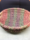 Basket Flower Girl Vintage Pink Green Purple Round Wicker Centerpiece Table Decor - JAMsCraftCloset