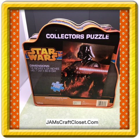 3D Tin 1000 Piece Puzzle Star Wars Darth Vader Model 18708 Advertising Collector - JAMsCraftCloset