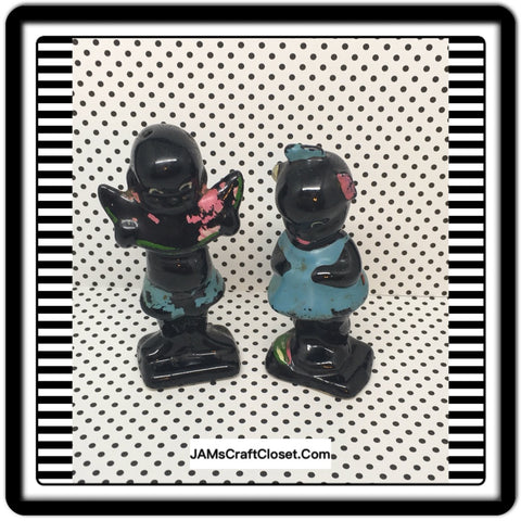 Black Americana Vintage Pickaninnies Salt Pepper Shakers Collectible Memorabilia - JAMsCraftCloset