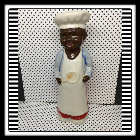 Black Americana Tall Chef Boy Sugar Shaker Collectible Memorabilia - JAMsCraftCloset