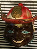 Black Americana Fireman Jar Cookie Vintage Japan on the Bottom Collectible Memorabilia - JAMsCraftCloset