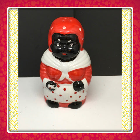 Black Americana Aunt Jemima Polka Dotted Sugar Shaker Collectible Memorabilia REPRODUCTION - JAMsCraftCloset